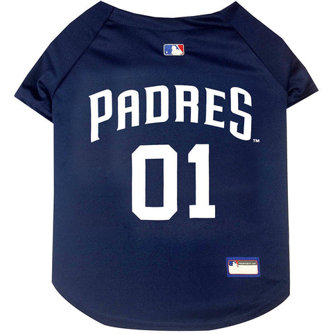 San Diego Padres Dog Jersey-DOG-Pets First-X-SMALL-Pets Go Here jersey, l, m, mlb, mlb jersey, pets first, s, sports, sports jersey, xl, xs Pets Go Here, petsgohere