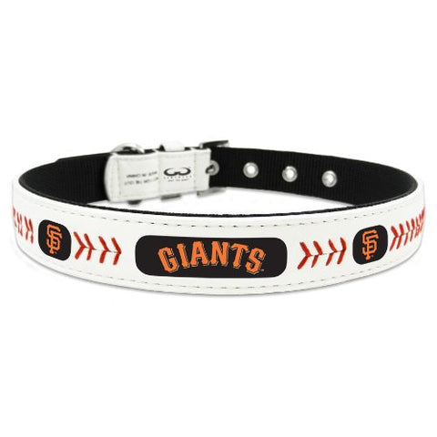 San Francisco Giants Dog Collar Leather-DOG-Game Wear-X-SMALL-Pets Go Here game wear, l, m, s, xl, xs Pets Go Here, petsgohere