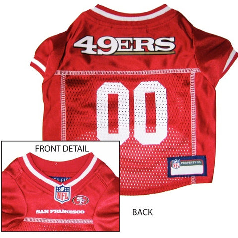 San Francisco 49ers Dog Jersey-DOG-Pets First-MEDIUM-Pets Go Here jersey, l, m, nfl, pet goods, s, sports, sports jersey, xl, xs Pets Go Here, petsgohere