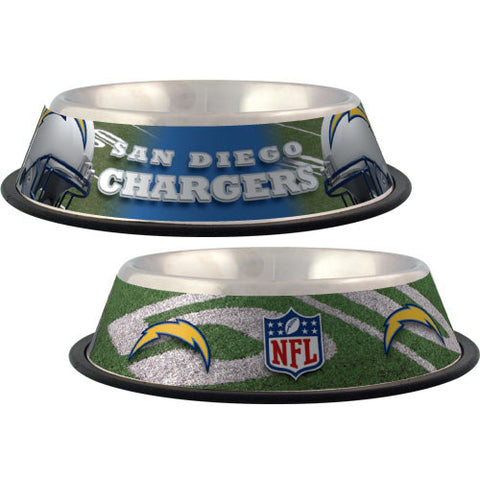 San Diego Chargers Dog Bowl-DOG-Hunter-Pets Go Here black, dc, hunter, nfl, sports, sports bowl, stainless steel Pets Go Here, petsgohere
