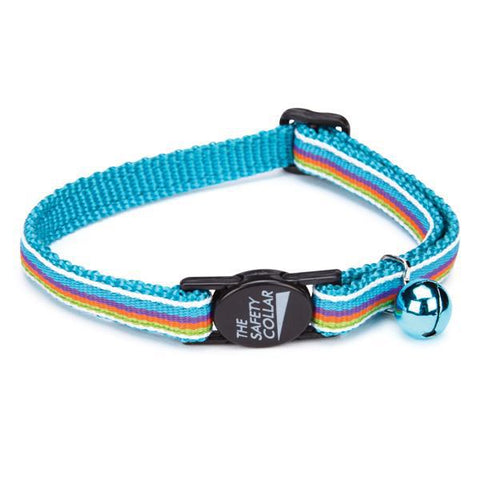 Savvy Tabby Breakaway Cat Collar BLUE Stripe-CAT-Savvy Tabby-Pets Go Here