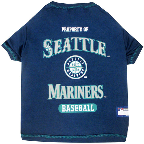 Seattle Mariners Dog Shirt-DOG-Pets First-X-SMALL-Pets Go Here l, m, mlb, pets first, s, sports, sports shirt, xl, xs Pets Go Here, petsgohere