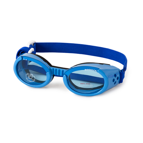 Doggles Dog Sunglasses Blue Frame Blue Lens-DOG-Doggles-LARGE-Pets Go Here accessories, blue, doggles, eye, goggles, l, light blue, m, red, s, sunglasses, xl, xs Pets Go Here, petsgohere