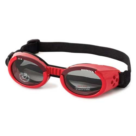 Doggles Dog Sunglasses Red Frame Light Smoke Lens-DOG-Doggles-X-SMALL-Pets Go Here accessories, doggles, eye, goggles, red, sunglasses, xs Pets Go Here, petsgohere