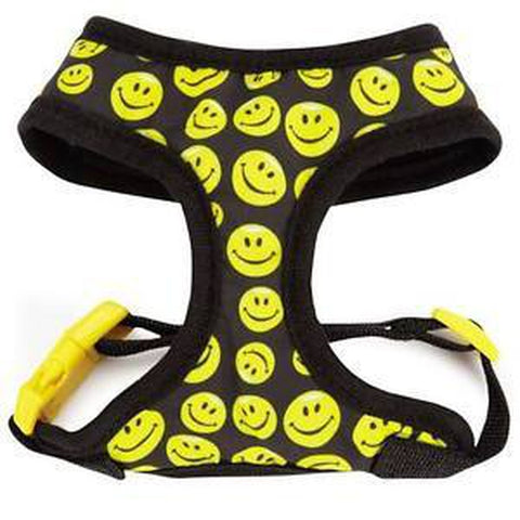Casual Canine Smiley Face Harness-DOG-Casual Canine-LARGE-Pets Go Here black, casual canine, harness, l, m, s, xl, xs Pets Go Here, petsgohere