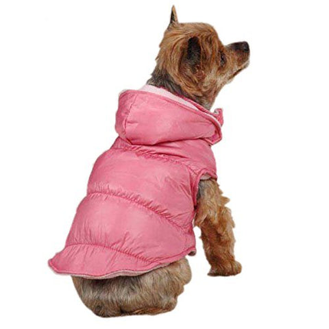 Zack and Zoey Snow Lodge Vest PINK-DOG-Zack & Zoey-XX-SMALL-Pets Go Here dog clothes, fleece, l, m, pink, s, vest, xl, xs, xxs, zack & zoey Pets Go Here, petsgohere