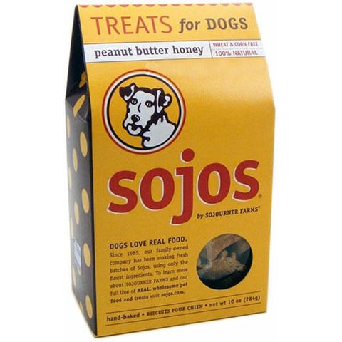 Sojos Natural Peanut Butter Honey Flavor Dog Treats-DOG-Ranch Rewards-Pets Go Here crunchy, dog biscuit, ranch rewards, treat Pets Go Here, petsgohere
