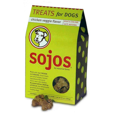 Sojos Natural CHICKEN & Veggie Flavor Dog Treats-DOG-Sojos-Pets Go Here crunchy, dog biscuit, sojos, treat Pets Go Here, petsgohere