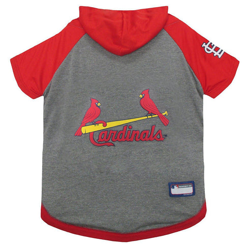 St. Louis Cardinals Dog Hoodie Shirt-DOG-Pets First-LARGE-Pets Go Here