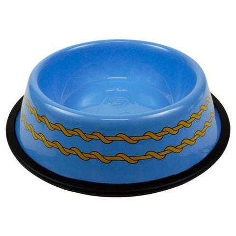 Star Trek Dog Bowl-DOG-A Crowded Coop-Pets Go Here a crowded coop, blue, bowl, red, star trek Pets Go Here, petsgohere