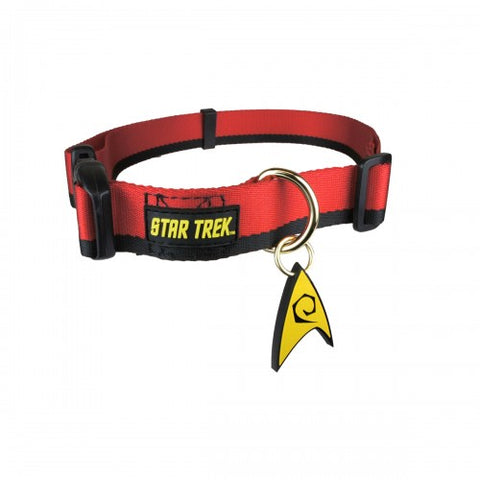 Star Trek Uniform Dog Collar RED-DOG-A Crowded Coop-X-LARGE 0eb5621a8