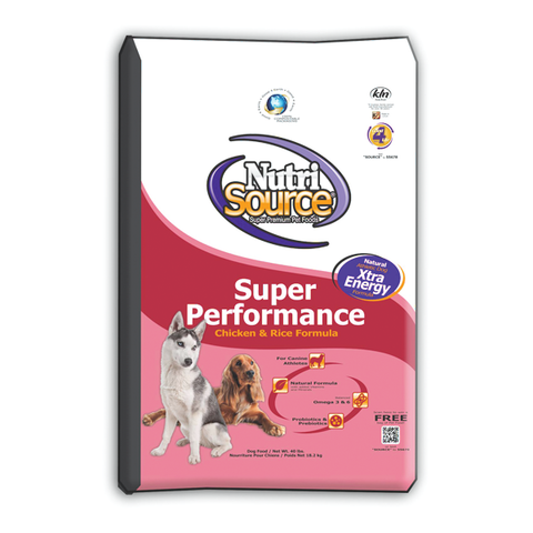 Super Performance CHICKEN & RICE Formula Dry Dog Food 40 LB-DOG-NutriSource-Pets Go Here chicken, food, pet meds, pet supplements, white Pets Go Here, petsgohere
