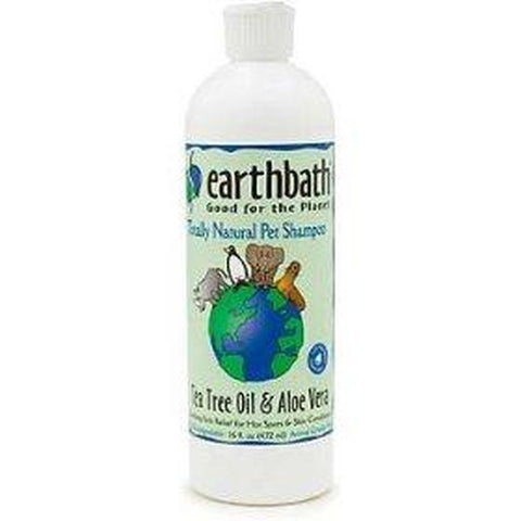 EarthBath Hot Spot Relief Dog Shampoo Tea Tree Oil & Aloe Vera 16 Oz-DOG-Earthbath-Pets Go Here 1 pt, 16 oz, earthbath, flea, natural flea and tick, shampoo Pets Go Here, petsgohere