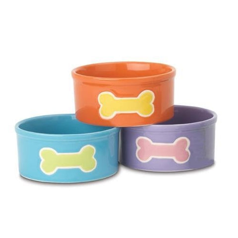 PetRageous Teeny Tiny Bones Water Bowls-DOG-PetRageous-Pets Go Here bowl, cat, dog bowl, petrageous, water Pets Go Here, petsgohere