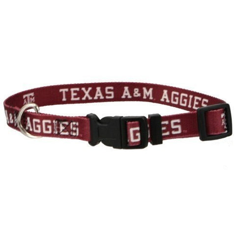 Texas A&M Dog Ribbon Collar-DOG-Pets First-Pets Go Here ncaa, nylon, pets first, sports, sports collar Pets Go Here, petsgohere