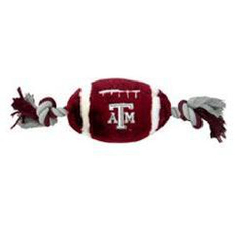 Texas A&M Plush Football Dog Toy-DOG-Pets First-Pets Go Here
