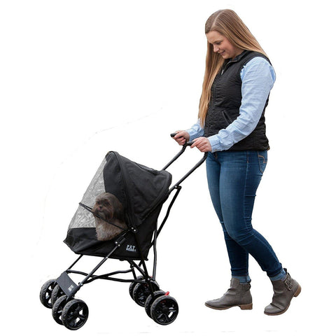 Pet Gear Travel Lite Pet Stroller-DOG-Pet Gear-BLACK-Pets Go Here black, navy, pet gear, pink, test Pets Go Here, petsgohere