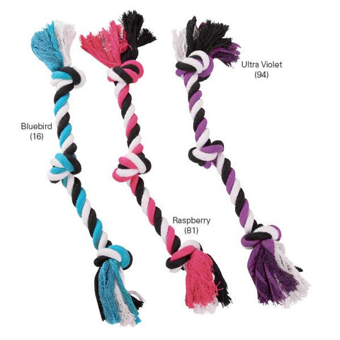Grriggles Triple Knot Bone Dog Chew Toy-DOG-Grriggles-PURPLE-LARGE-Pets Go Here