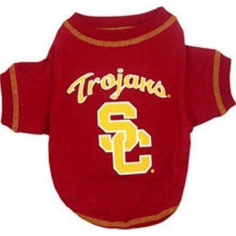 USC Trojans Dog Shirt-DOG-Pets First-X-SMALL-Pets Go Here l, m, ncaa, pets first, s, sports, sports shirt, xl, xs Pets Go Here, petsgohere