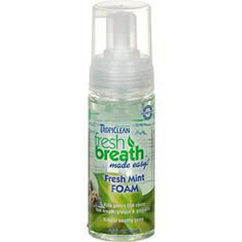 Tropiclean Fresh Mint Foam-DOG-Tropiclean-Pets Go Here pet meds, pet oral care, tropiclean Pets Go Here, petsgohere