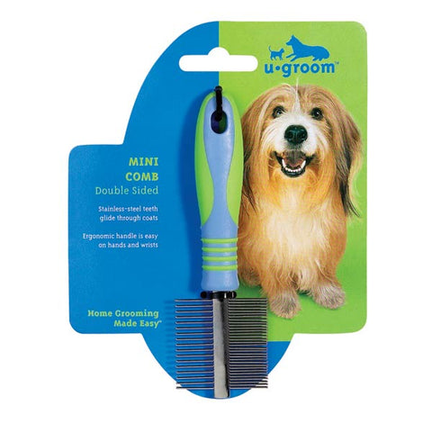 UGroom Mini Dog Comb-DOG-UGroom-Pets Go Here grooming, pet grooming supplies, ugroom Pets Go Here, petsgohere