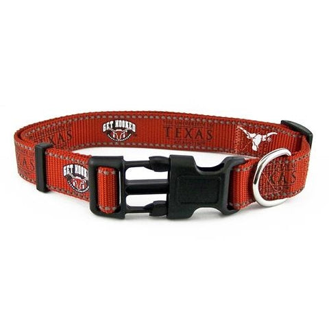Texas Longhorns Reflective Dog Collar-DOG-Sporty K9-MEDIUM-Pets Go Here l, m, mlb, nba, ncaa, reflective, s, sports, sports collar, xl, xs Pets Go Here, petsgohere