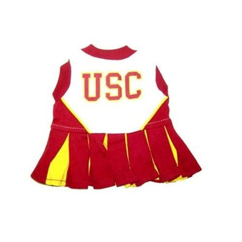 USC Trojans Dog Cheerleader Costume Dress-DOG-Pets First-MEDIUM-Pets Go Here costume, dog, dog dress, l, m, ncaa, pets first, s, sports, test, uniform, xl, xs, yellow Pets Go Here, petsgohere