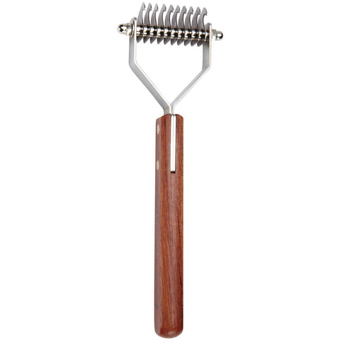 Master Grooming Stripper w/Wooden Handle 8 Blades-DOG-Master Grooming-Pets Go Here