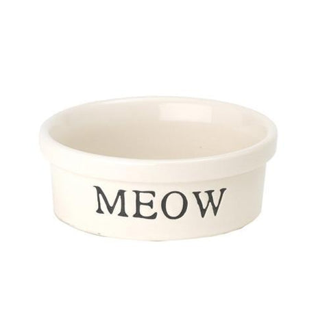 Yip-Yap MEOW Crock Bowl-DOG-PetRageous-2 Cup-Pets Go Here 2 cup, bowl, cat, ceramic, water Pets Go Here, petsgohere