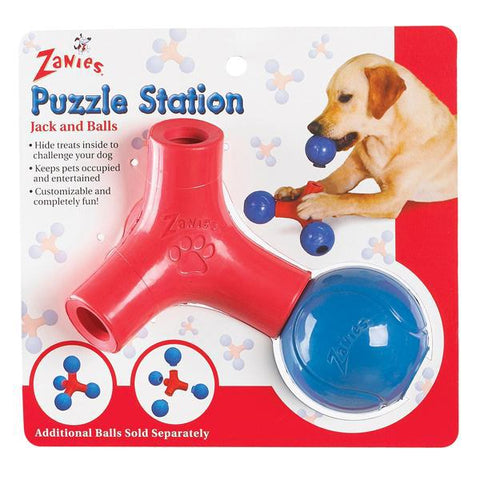 Zanies Puzzle Station Dog Toy Jack and Ball-DOG-Zanies-Pets Go Here ball, dog toy, pet toy, toy, zanies Pets Go Here, petsgohere
