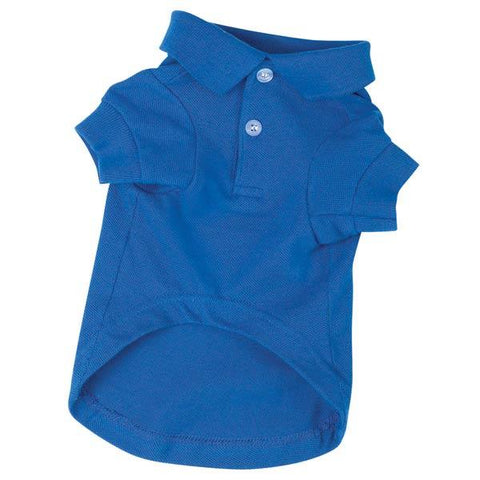 Zack and Zoey Polo Dog Shirt-DOG-Zack & Zoey-LARGE-NAUTICAL BLUE-Pets Go Here blue, green, l, m, nautical blue, pink, red, s, shirt, violet, xl, xs, zack & zoey Pets Go Here, petsgohere