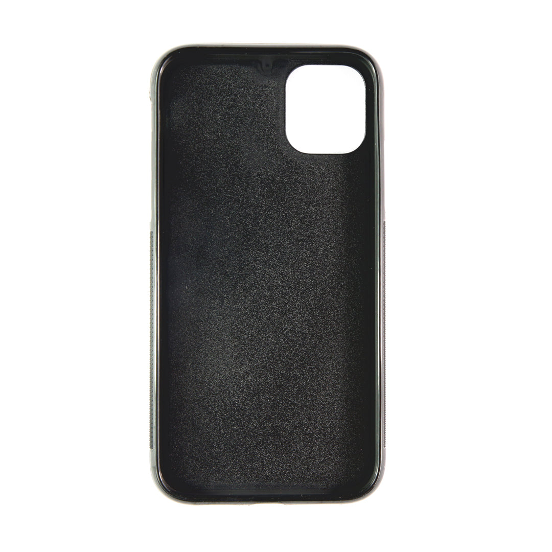 iPhone 11 Pro Phone Case in Stone Pebbled Leather