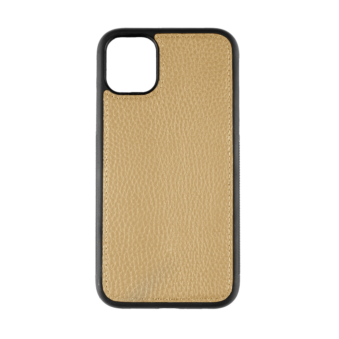 iPhone 11 Phone Case in Cocoa Pebbled Leather
