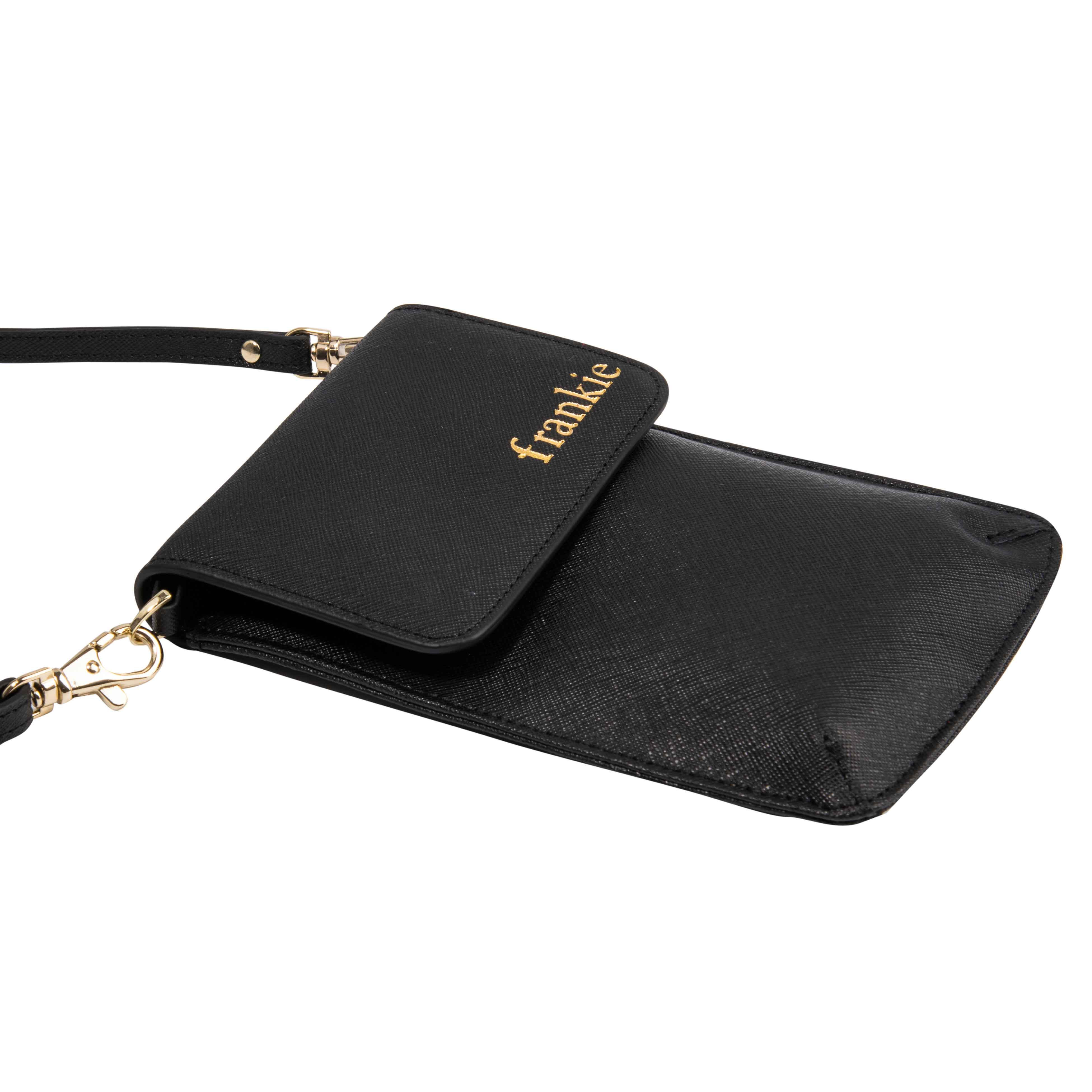 Phone Bag in Black Saffiano Leather
