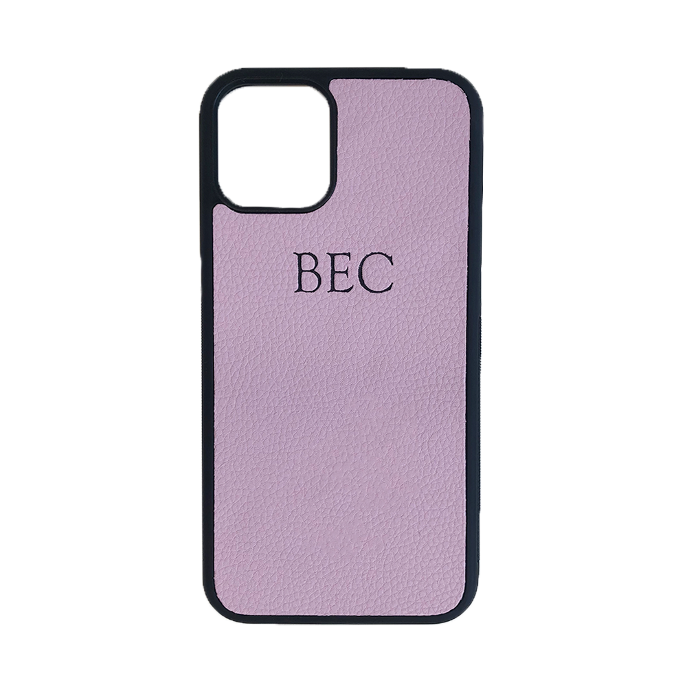 iPhone 11 Pro Phone Case in Lilac Pebbled Leather