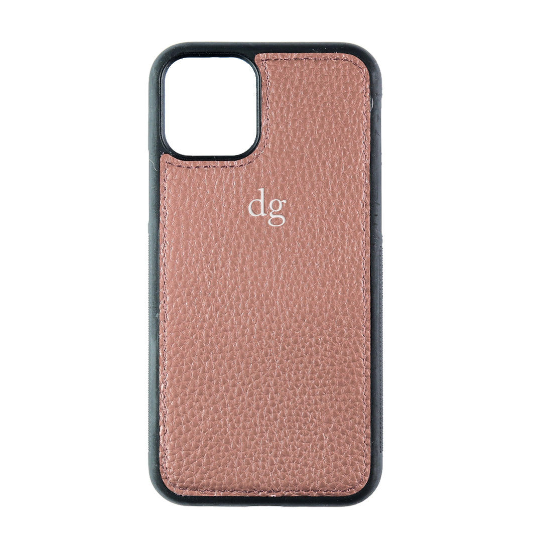 iPhone 11 Pro Phone Case in Mauve Pebbled Leather