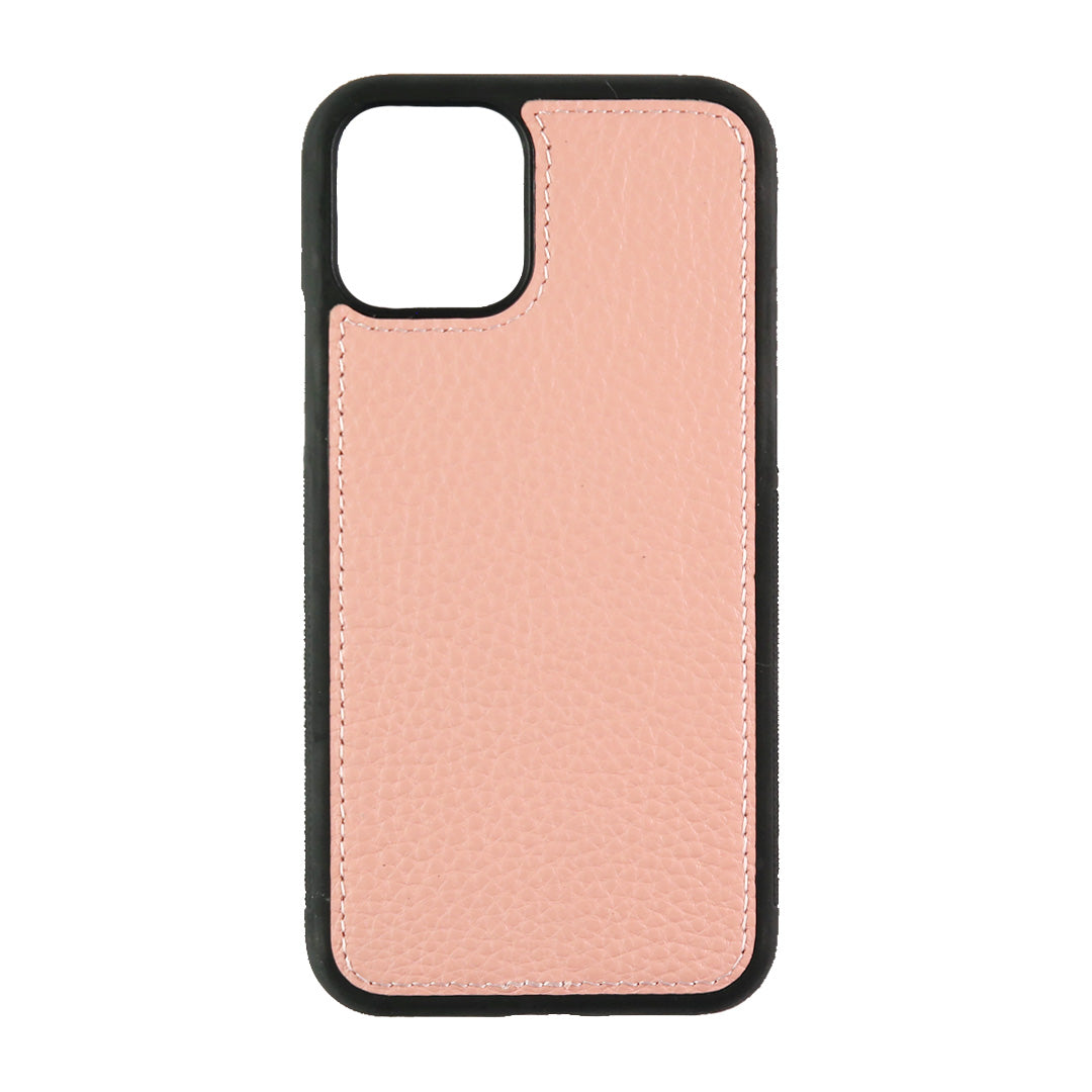 iPhone 11 Pro Phone Case in Pale Pink Pebbled Leather