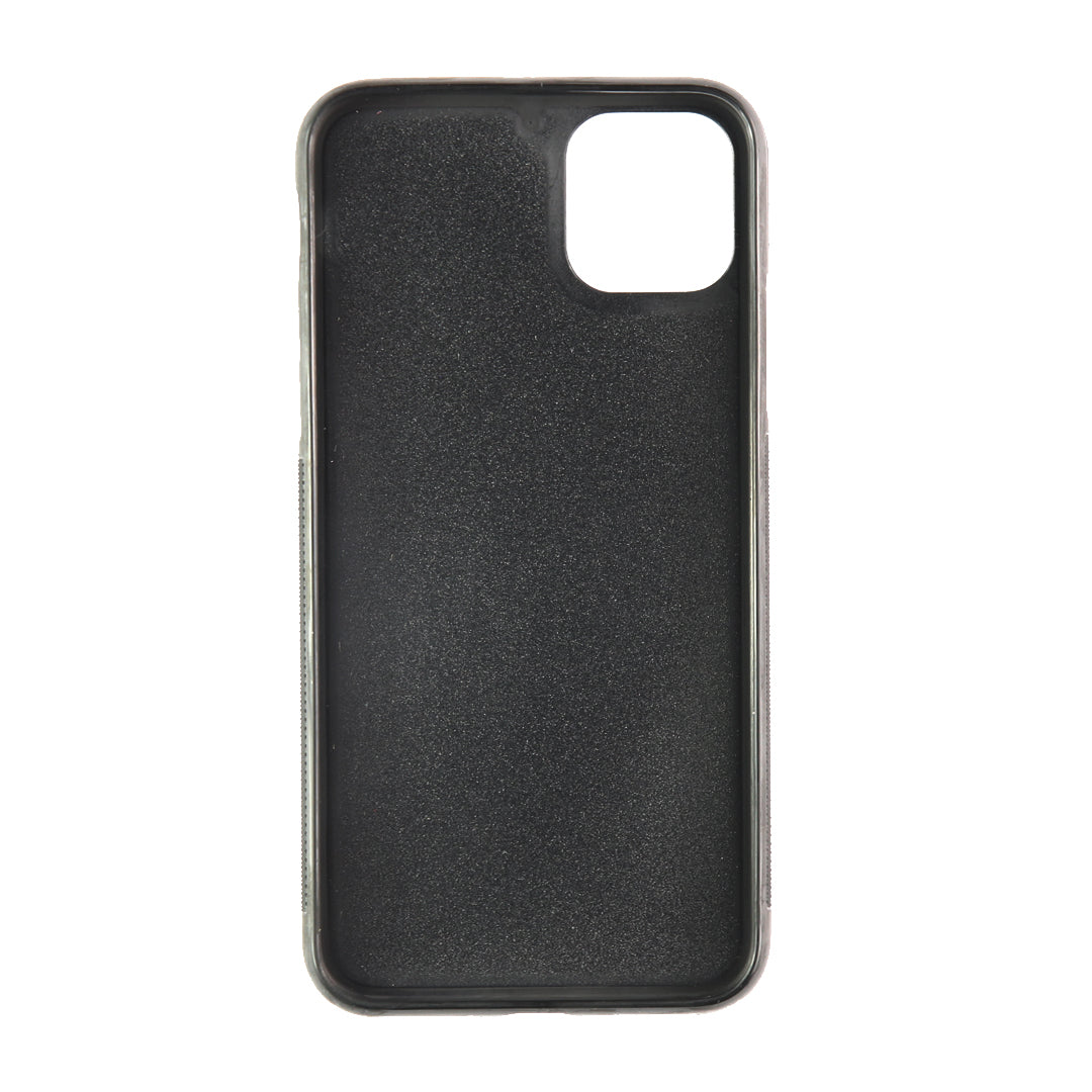 iPhone 11 Pro Max Phone Case in Stone Pebbled Leather