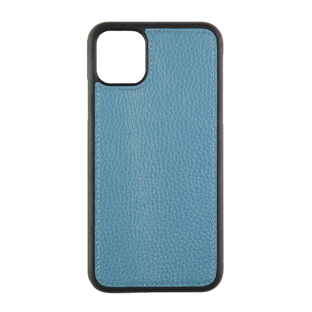 iPhone 11 Pro Max Phone Case in Denim Pebbled Leather