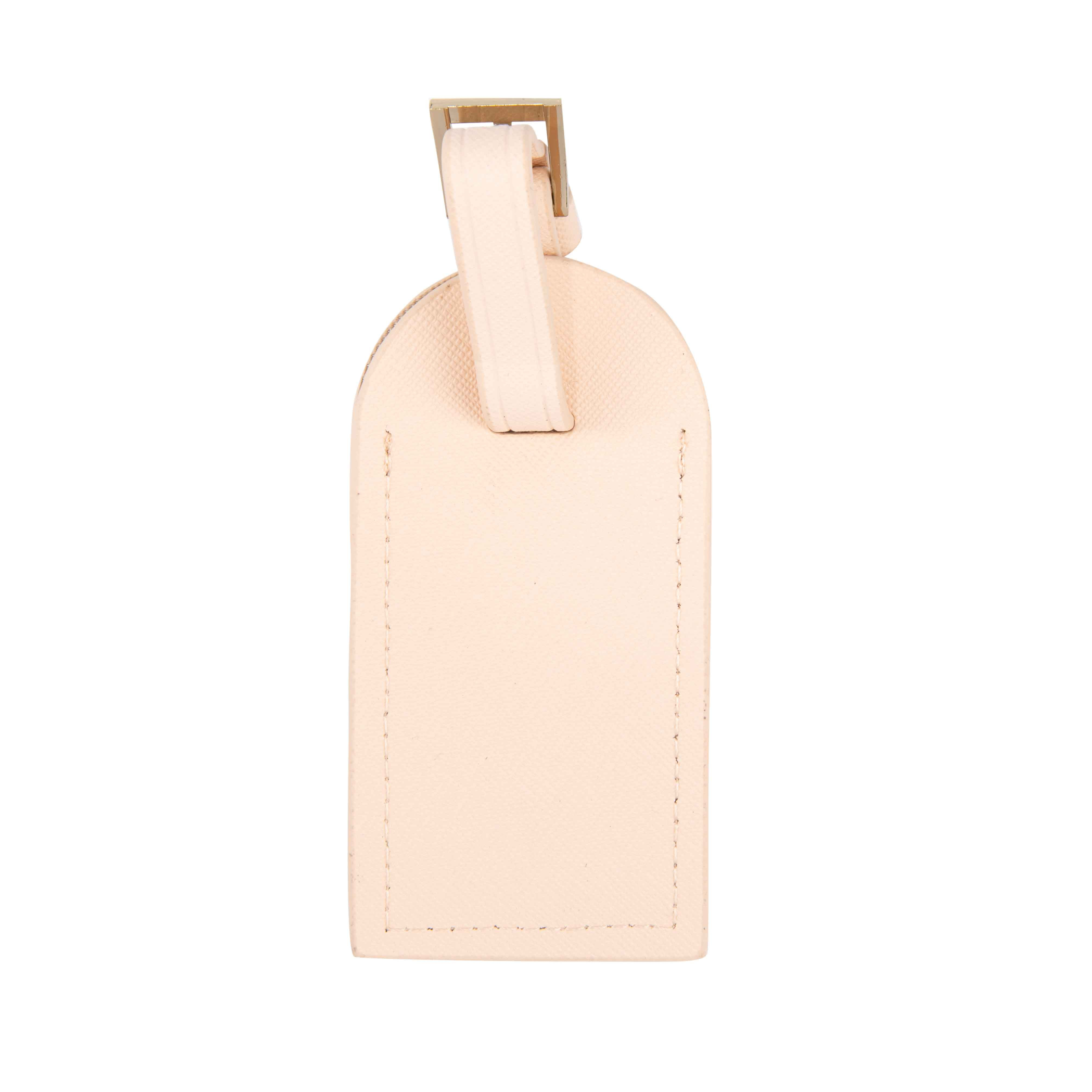 In Transit Luggage Tag in Pale Pink