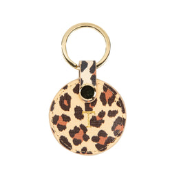 The Lowkey Leopard Print Round Keyring