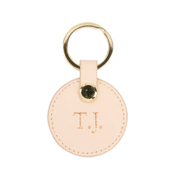 The Lowkey Round Keyring in Blush Pink