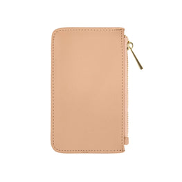 Cardholder with Zip in Taupe