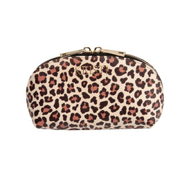 Mini Cosmetic Case in Leopard Print