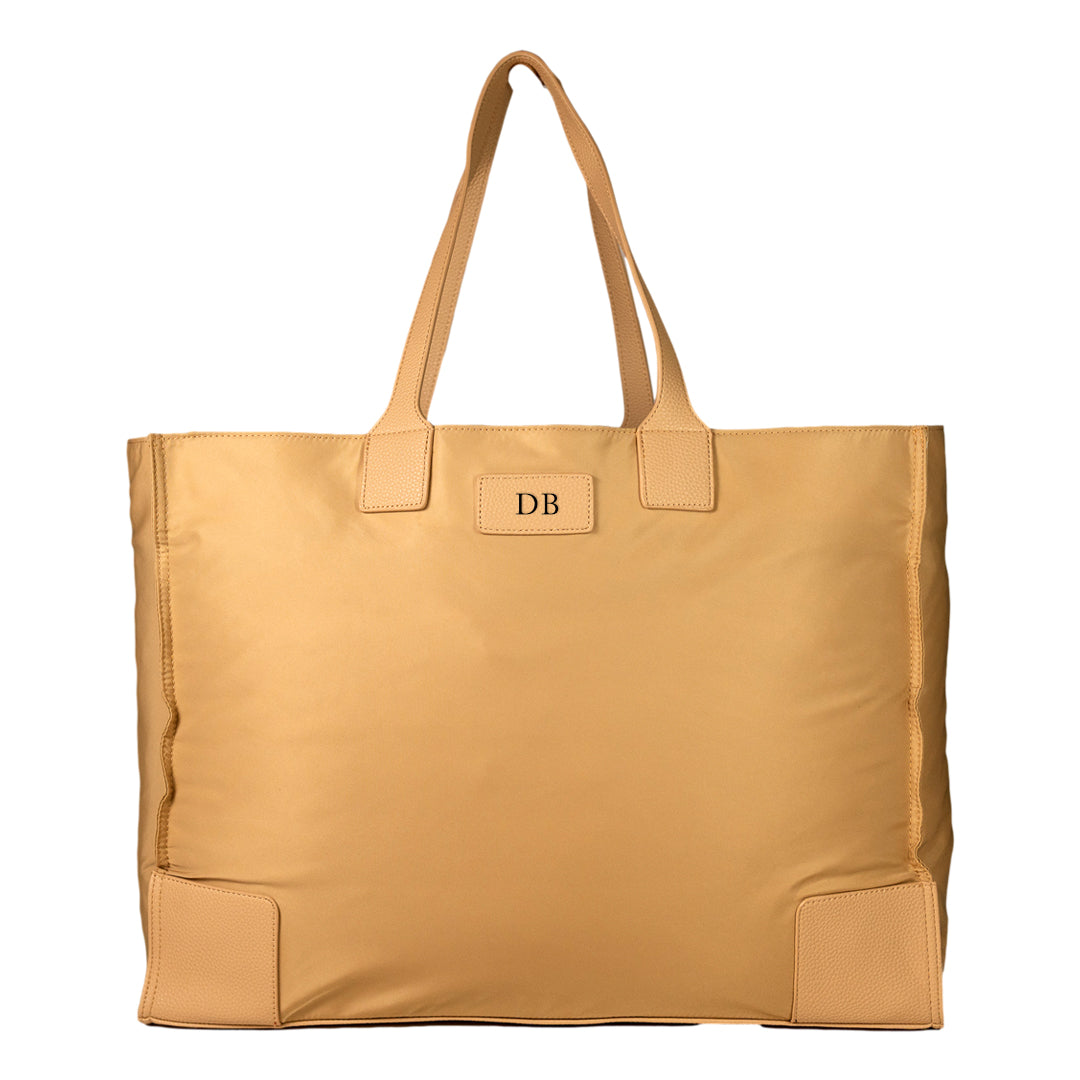 Mon Purse Nylon Blair Foldable Tote Bag in Stone