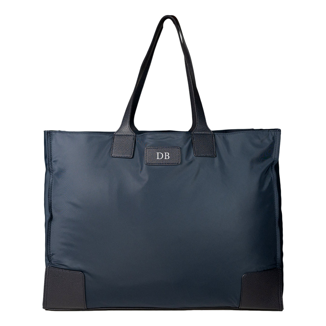 Mon Purse Nylon Blair Foldable Tote Bag in Navy