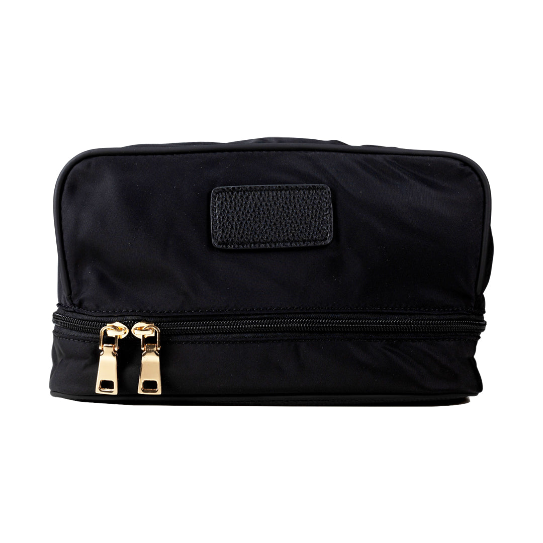 Mon Purse Nylon Paris Cosmetic Case in Black (Gold)