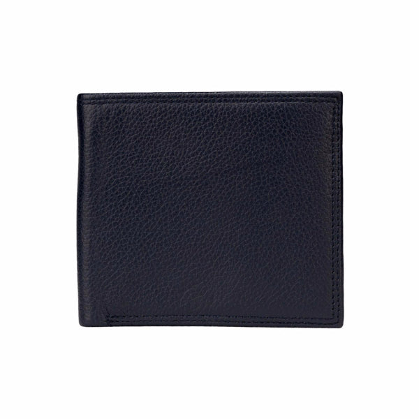 Mon Purse Pebbled Mens Bifold Wallet in Navy
