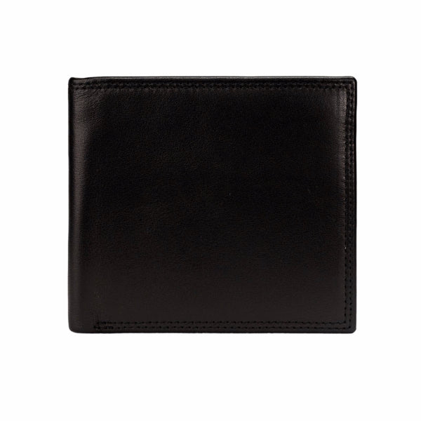 Mon Purse Smooth Mens Bifold Wallet in Black