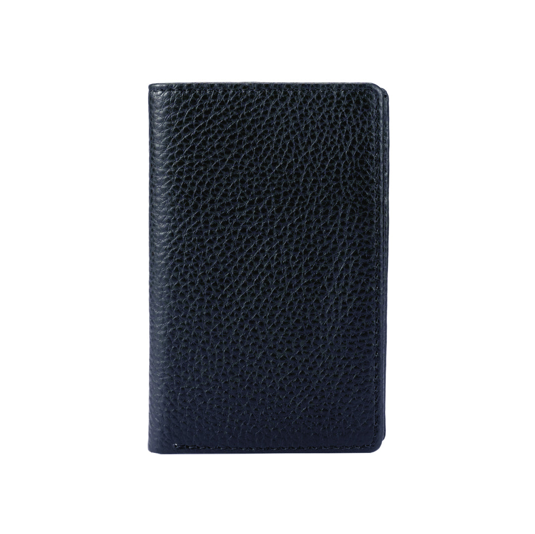 Mon Purse Men's Pebbled Small Bifold Wallet in Navy